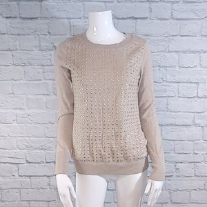 EUC Express Gold Studded Crewneck Sweater